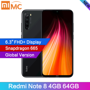"Global Version Xiaomi Redmi Note 8 4GB RAM 64GB Cellphone 48MP Quad Cameras 6.3"" FHD Screen Snapdragon665 MobilePhone 4000mAh(China)"