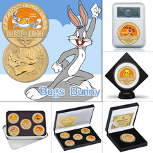 WR 5pcs Gold Plated Coins Collectibles with Box US Challenge Coin Original Anime Coins Gift Set Dropshipping
