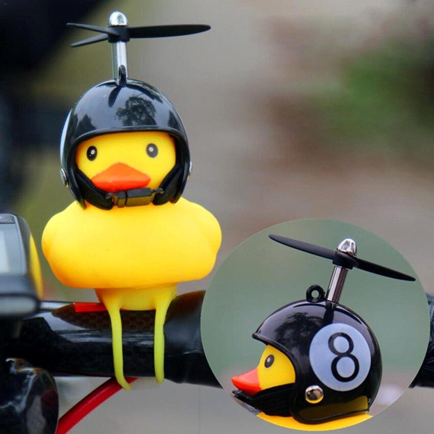 Горячая продажа велосипедный звонок с светильник маленький желтый сломанный ветер утка шлем горный велосипед головной светильник свет вел...