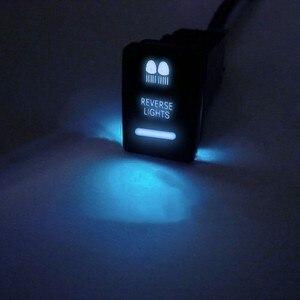 Image 3 - Dash Push Button Schalter Blau LED Licht 12V3A Neue Für Toyota Camry Hiace Corolla Land Cruiser Prado 150 Serie RAV4 altis 22*22mm