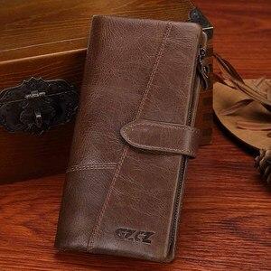 Image 3 - GZCZ 2020 hakiki deri cüzdan kadınlar için cüzdan kadın lüks inek deri iş kadın çantası hakiki deri çanta
