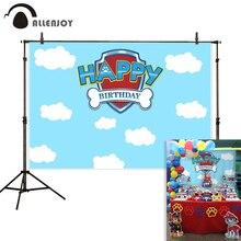 Allenjoy Photography backdrop Sky cloud paw shield child birthday party background photocall photobooth photozone photophone