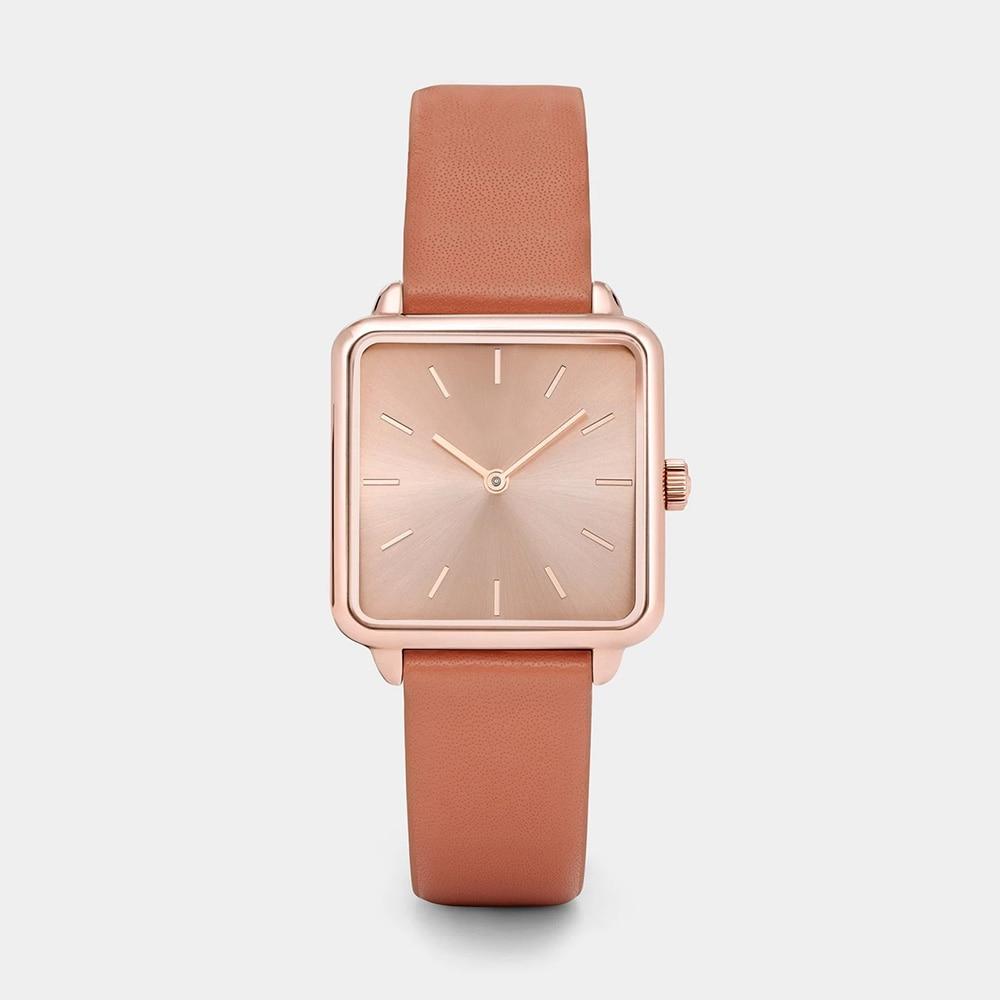 Reloj Mujer Classic Brand Women Watches Fashion Square Leather Ladies Watches Quartz Wrist Watch Zegarek Damski Montre Femme