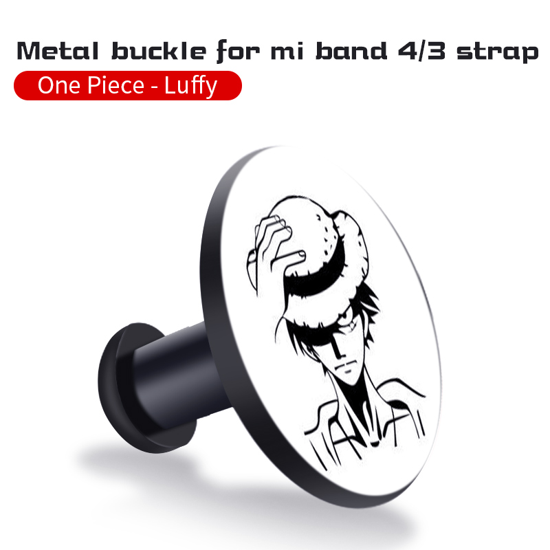 Для Xiaomi Mi Band 4/3 ремешок Металлическая пряжка силиконовый браслет аксессуары miband 3 браслет Miband 4 ремешок для часов М - Цвет: Monkey D. Luffy