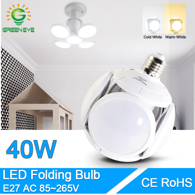 LED Bulb E27 40W 9W Cold White Warm White AC 220V 240V Bombilla Spotlight Lampada LED Light Football UFO Lamp LED Bulb For Home
