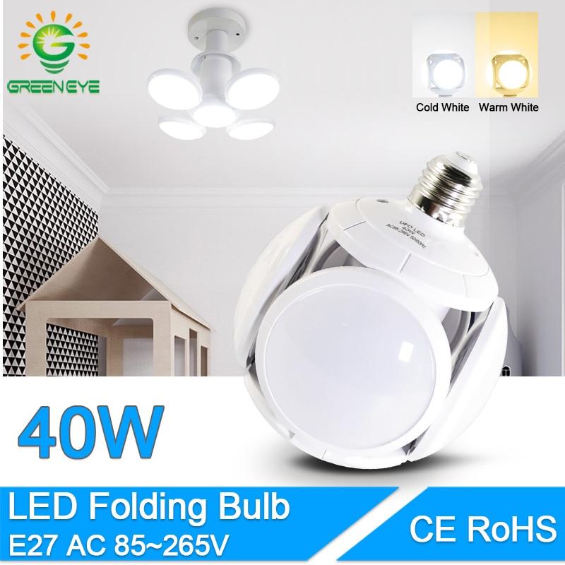 LED Bulb E27 40W 9W Cold White Warm White AC 220V 240V Bombilla Spotlight Lampada LED Light Football UFO Lamp LED Bulb For Home