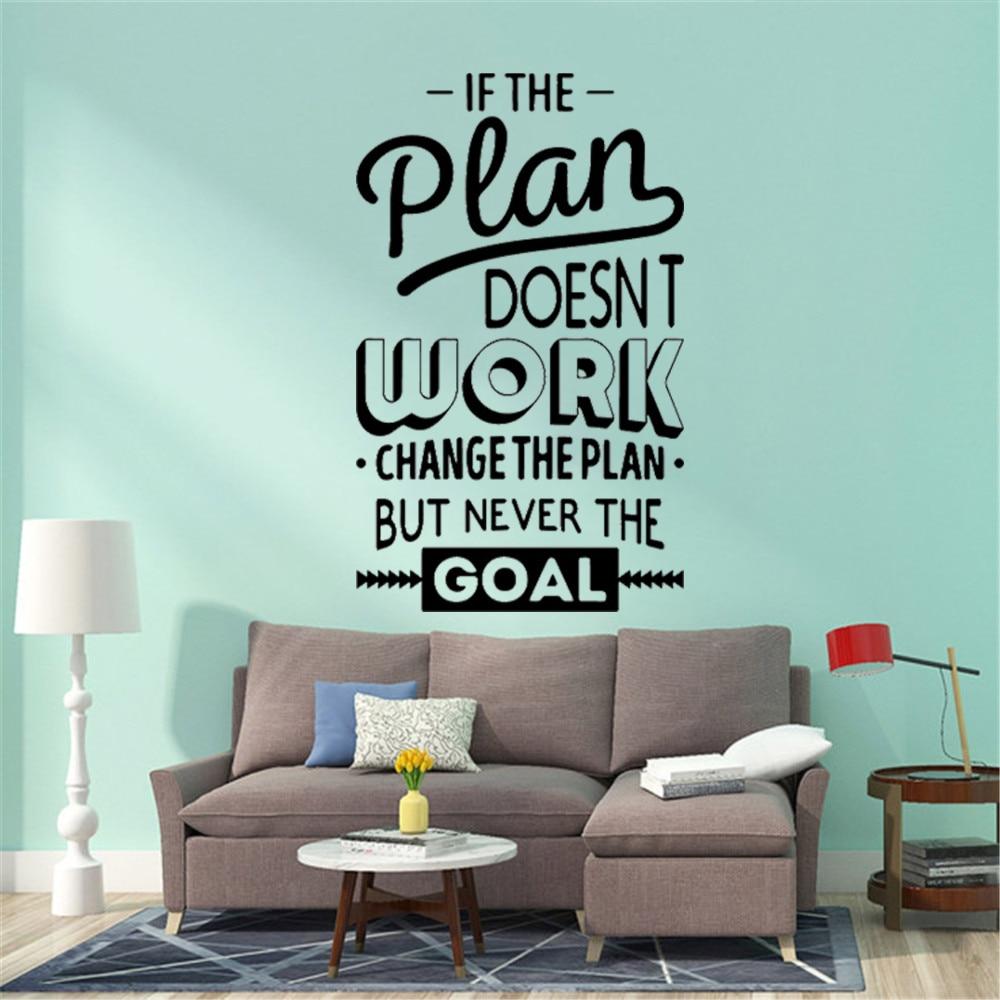 Duża większa motywacja cytaty pracuj ciężko zdania vinyl Wall naklejka ścienna sypialnia tapeta z dekorem dekoracja biurowa