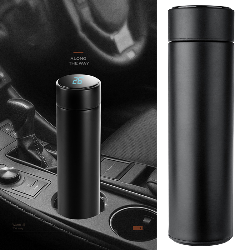 500ml Car Truck Thermoses Vacuum Flasks Led Temperature Display Stainless Steel Heating Cup Kettle Travel Coffee Tea Bottle Gift