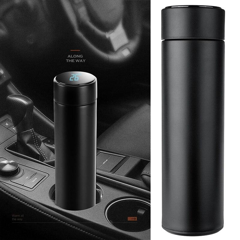 500ml voiture camion Thermoses vide flacons Led affichage de la température en acier inoxydable chauffage tasse bouilloire voyage café thé bouteille cadeau