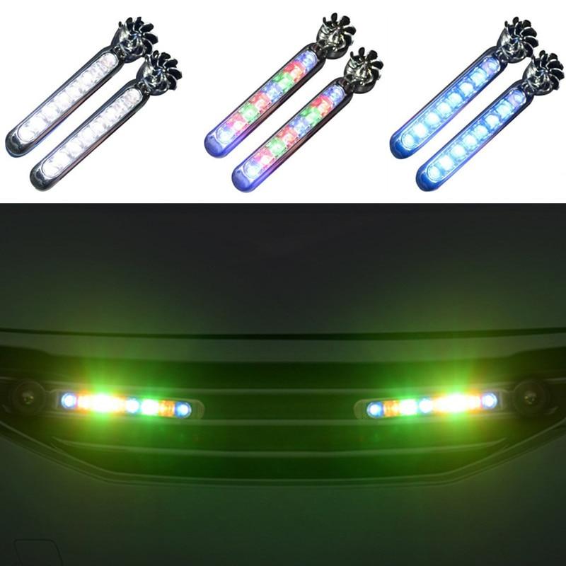 2 قطعة LED الرياح تعمل بالطاقة سيارة النهار تشغيل السيارات مصباح للزينة جيلي الرؤية SC7 MK CK الصليب Gleagle SC7 Englon SC3 SC5 SC6