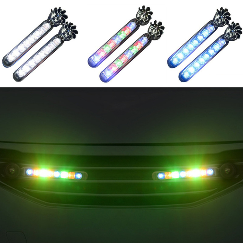 2pc LED Wind Powered Car Daytime Running Auto Decorative Lamp For Geely Vision SC7 MK CK Cross Gleagle SC7 Englon SC3 SC5 SC6
