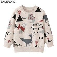 SAILEROAD çocuk giyim pamuk bebek erkek tişörtü sonbahar çocuk giysileri dinozor küçük erkek giyim kostüm