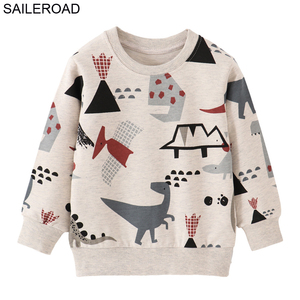 SAILEROAD Children's Clothing Cotton Baby Boys Sweatshirts for Autumn Kids Clothes Dinosaur Little Boys Outerwear Costume