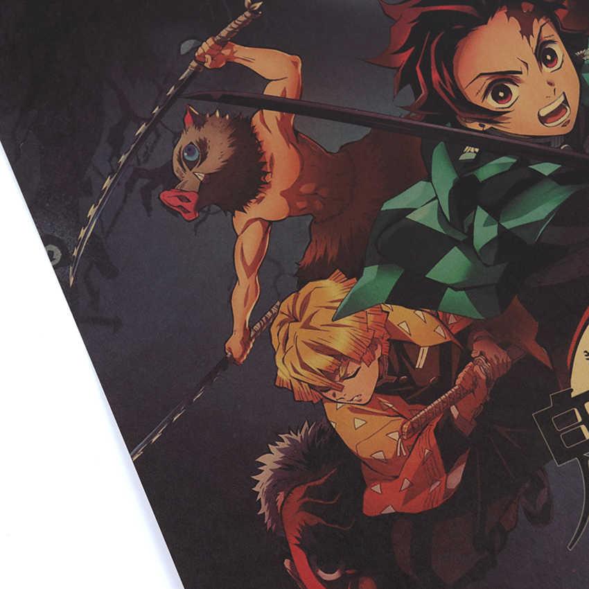 Kravat LER karikatür Anime posteri duvar sanat posterleri Kraft kağıt dekorasyon boyama Modern ev dekor duvar Sticker boyama 50x35cm