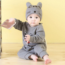 Spring Autumn Baby Girl Clothes Rompers New Born Toddler Long Sleeve Romper Cartoon Printing Boy