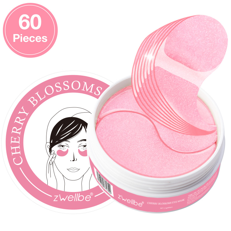 Cherry Blossoms Extract Collagen Eye Mask 60Pcs Anti Wrinkle Sleeping Eye Patches Dark Circles Remove Eye Bags Gel Eye Mask Pad(China)