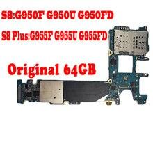 100% originale per Galaxy S8 Plus G955F G955FD G955U S8 G950F G950FD G950U scheda logica con chip scheda madre versione ue MB