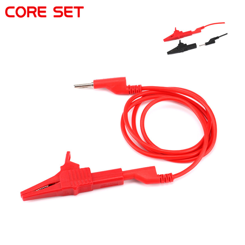 4ps <font><b>4mm</b></font> Test Line Silicone <font><b>Banana</b></font> Plug to 55mm/85mm HV Crocodile Alligator Clips Clamps 2000V Battery Test Lead Probe Wire <font><b>Cable</b></font> image
