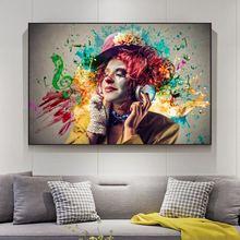 Клоун crazy hat музыка Изобразительное искусство картины на
