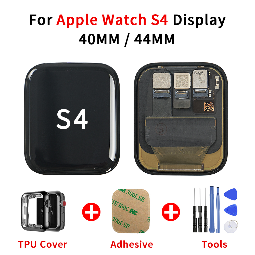 40mm 44mm For Apple Watch Series 4 S4 LCD Display Touch Screen Digitizer For Apple Watch 4 Display with Adhesive+TPU Cover+Tools image
