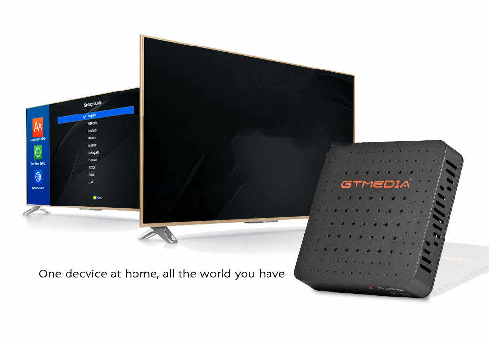 Nieuwe Stijl Gtmedia Ifire Box Digitale Set Top Box Tv Decoder Full Hd 1080P (H.265) ingebouwde Wifi Module Ondersteuning Spanje De