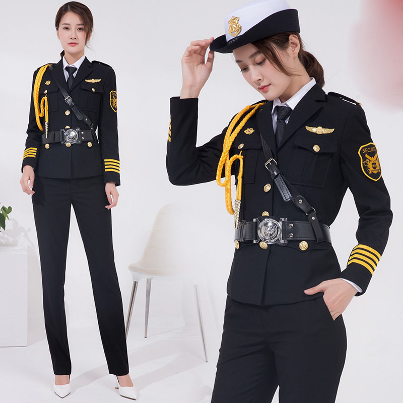 Spring High Grade Place Security Woman Uniform Lady Airport Property Clothing Ceremony Service Uniform Work Suits + Accessories