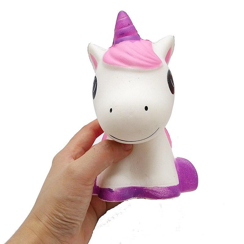 Kawaii Unicorn Squishy Doll Slow Rise Stress Elimination Squeeze Toy Baby Child Kids Happy Christmas Birthday Gift 15*12*11CM
