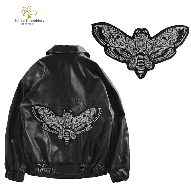 Broderie abeille patchs insectes fer sur autocollants bricolage pour veste T-shirt Applique Badge