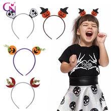 Cn 8 шт/лот блестящие фетровые повязки для волос на Хэллоуин