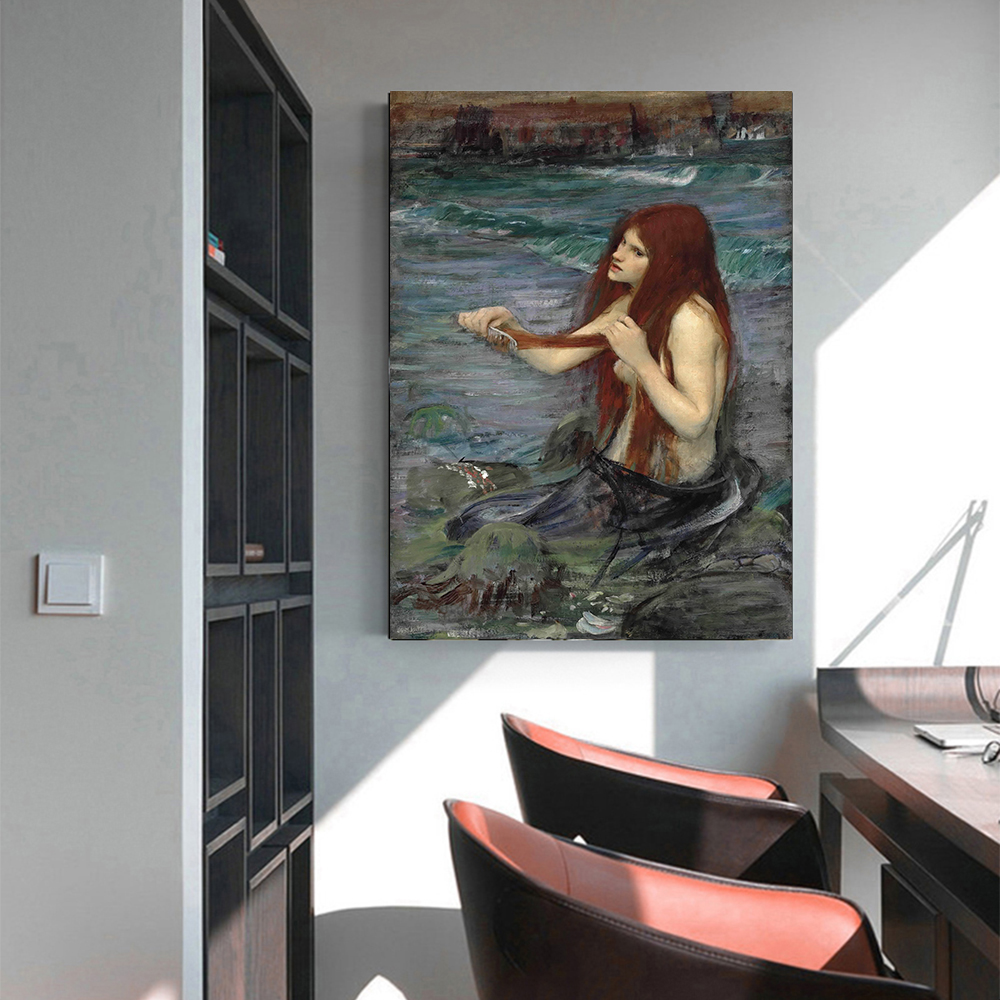 Holover pintura a óleo da lona estética decoração casa william waterhouse