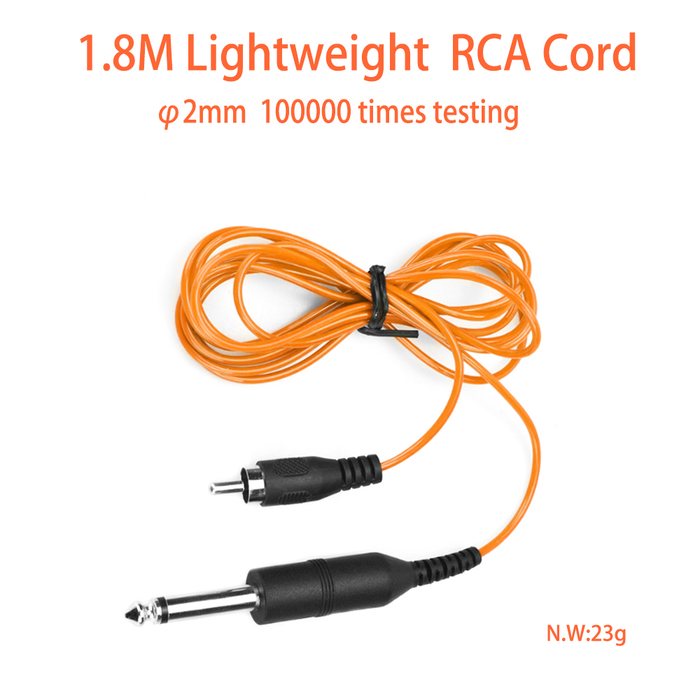 Tattoo 1.8M RCA Cable DC Cable Flexible Tattoo Clip Cord For Power Supply Wire Cable For Tattoo Machine  Accessory