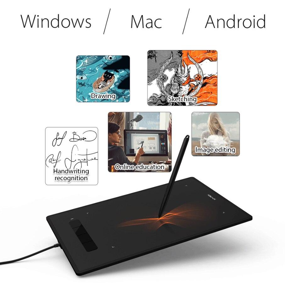 XP-Pen Star G960 Digitale Zeichnung Tablet Grafik Tablet 8192 Ebenen Unterstützung Android Windows MAC Stift Tablet Online Bildung kunst