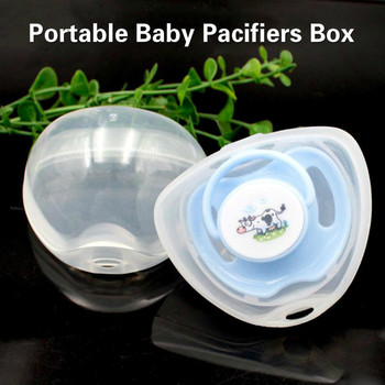 Portable Baby Pacifiers Box Infant Boy Girl Pacifier Case Cot Baby Pacifier Hold Plastic Box Nipple Accessories Storage Feeding image