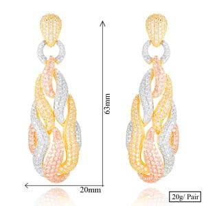 Image 5 - GODKI słynny Micky Candy Charms Trendy kobiety kolczyki Cubic cyrkon spadek kolczyki dla kobiet akcesoria imprezowe ślubne