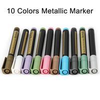 Methdic 10 Kleuren Metallic Markers Verf Pennen Voor Papier Steen Glas Muur
