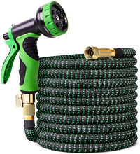 Large Garden Hose Pipe Expandable Flexible Used For High-Pressure Car Wash Magic Hose, Metal Spray Gun, Outdoor Garden Watering