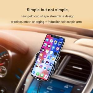 Image 3 - Автомобильное беспроводное зарядное устройство с автоматическим зажимом для iPhone 11 Pro XS MAX X 10 Вт Быстрая зарядка для Samsung Huawei P40 P30 Pro держатель для телефона