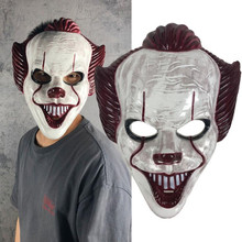 Stephen King's It Masque plastic clown Joker Costume Masks Halloween Movie Cosplay mask Adults Party props halloween led skull mask purge masks election mascara costume purge movie el wire dj party lighting glow in dark cosplay masks