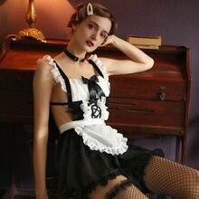 مثير الحلو لوليتا فستان خادمة زي أنيمي تأثيري خادمة موحدة زائد هالوين و ملابس تنكرية للحفلات للنساء مدرسة زي تنكري لفتاة