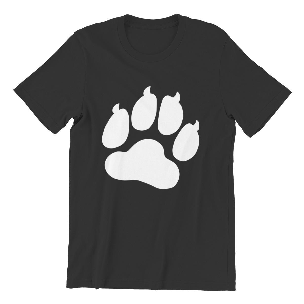 Camiseta masculina gigante gato pata amor retro gola redonda hip-hop roupas masculinas 60089