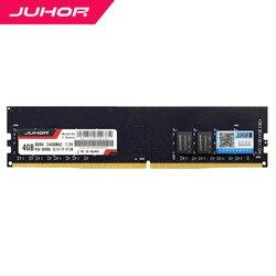 Juhor DDR4 Di RAM 4 GB 8 Gb 16 GB Desktop Memori dengan Panas UDIMM 2400 MHz 2666 MHz 3000 M Hz PC Ram 1.2V Baru DIMM Kapal Memoria Ram
