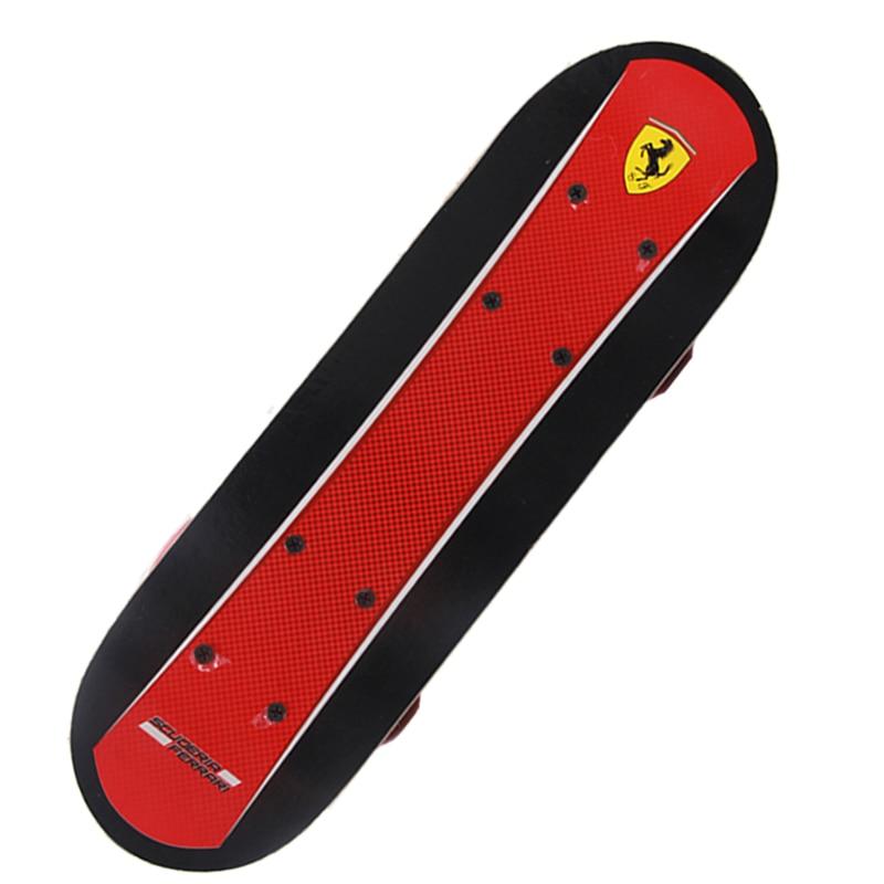 43*13 Children Mini Skate Board Ferrari Double Kick Kids Skate Board Wooden+ABS