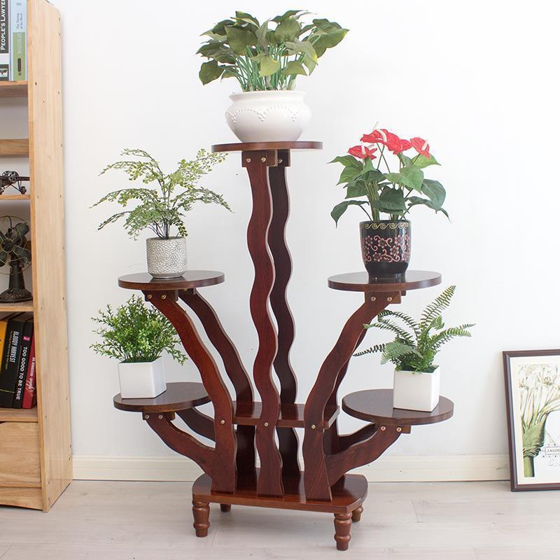 Para Macetas Wood Estanteria Escalera Etagere Pour Plante Living Room Stojak Na Kwiaty Balcony Flower Dekoration Plant Shelf