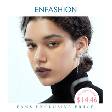 ENFASHION Punk Earlobe Dòng Mũi Nhọn Bông Tai Dành Cho Nữ Màu Vàng Bất Đối Xứng Tua Rua Nhỏ Earings Trang Sức Thời Trang E191129