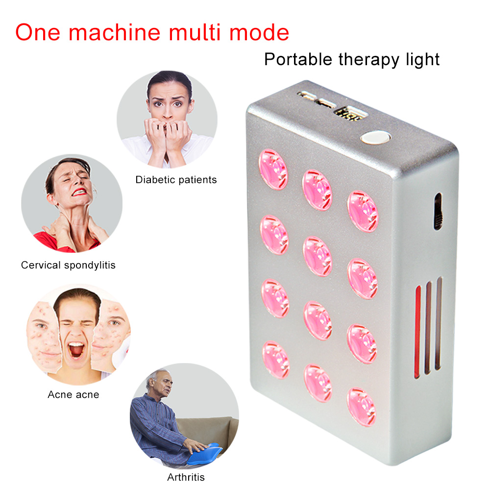 Led Light Therapy 660nm Red 850nm Infrared TL12 Light Therapy Panel With Battery Inside For Health Care