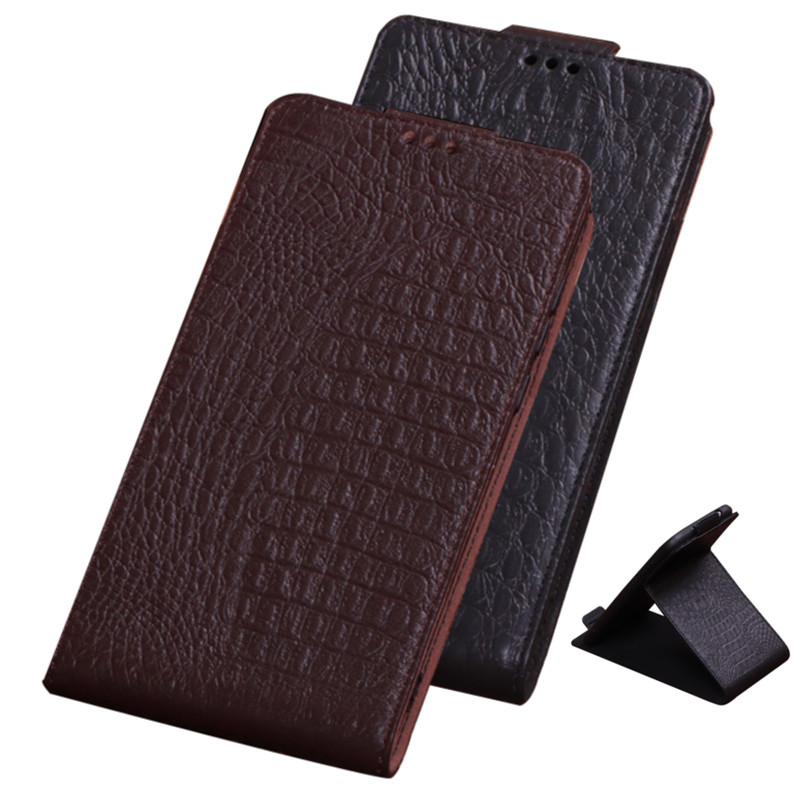 Cowhide Skin Natural Leather Vertical Phone Case For Nokia 6.7/Nokia 6.3/Nokia 5.4/Nokia 3.4/Nokia 2.4
