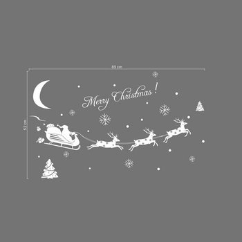 Little Deer Santa Shop Christmas Decoration window sticker daily supplies family familiar article of everyday use image