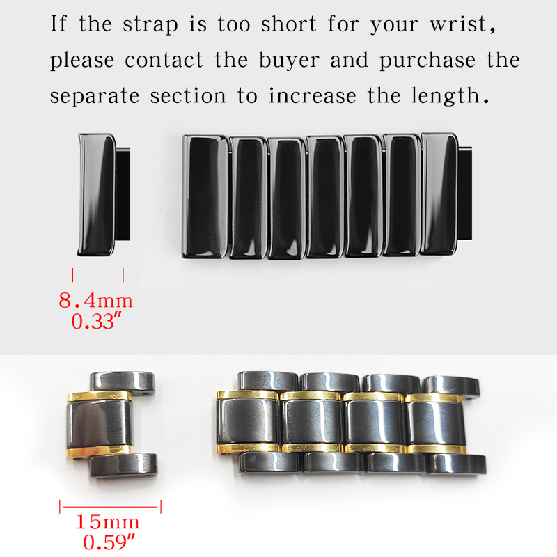 If The Strap Is Too Short For Your Wrist, Please Contact The Seller And Purchase A Separate Section To Increase The Length.