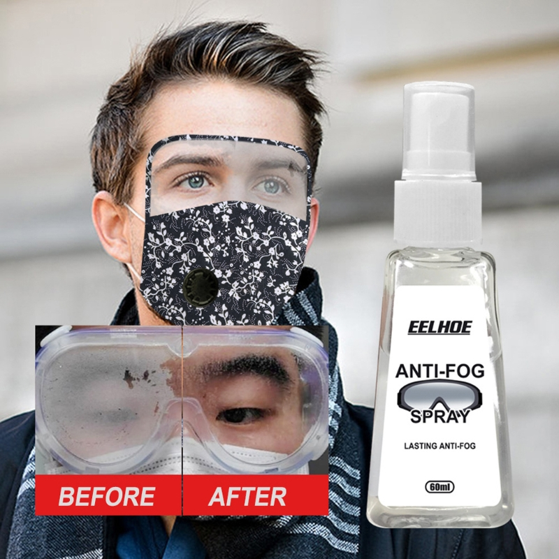 60 мл Анти-туман спрей очковых линз очиститель 48h, Длительное Действие, Обогрев для очки для горнолыжного спорта, маски на лицо, зеркал и окон