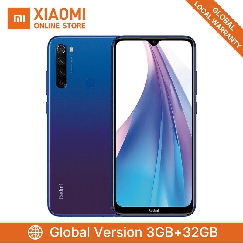 Global Version Xiaomi Redmi Note 8T 3GB 32GB Smartphone 48MP Quad Camera 4000mAh Big Battery Snapdragon 665 Support NFC Phone